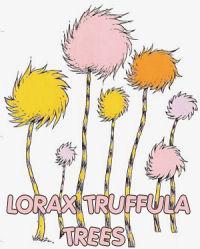 dr seuss lorax truffula trees wall stickers decals