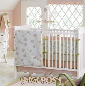 Shabby chic grey and yellow sunshine sunflower flower garden nursery theme ideas with gray yellow and white crib bedding set