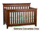 Simmons convertible baby crib in Espresso brown