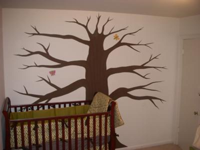 FinishedTree Wall Mural Design in our Baby's Nursery