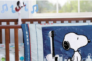 Peanuts Snoopy Hip Hop Rock And Roll Guitar Baby Nursery Theme