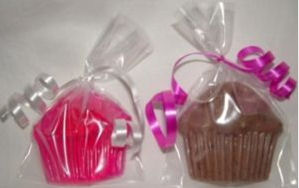Homemade cupcake spa theme baby shower favors that you can make yourself!