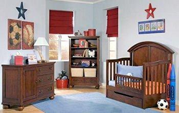Football themed baby crib bedding and nursery decor
