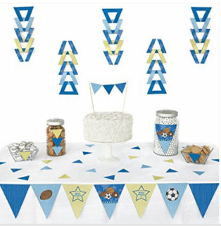 Sports theme baby shower decorating ideas for a baby boy