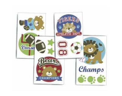 Baby Jungle Animals Sports Nursery Wall Decals