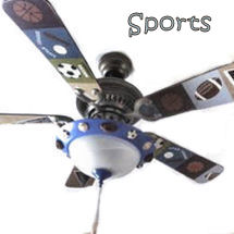 Baseball basketball football soccer sports theme nursery ceiling fan blades