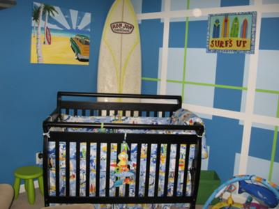 Surfing Fun in our Baby Boy's Surf Theme Nursery
