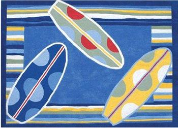 Surf theme baby nursery surfboard rug