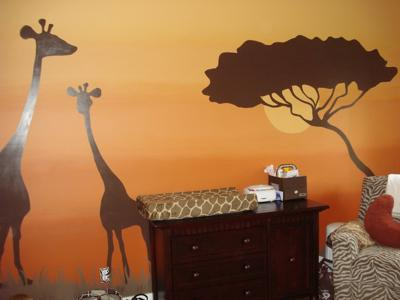 Sweet African Safari Baby NurseryTheme Bedding and Decor