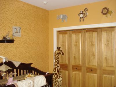 Sweet African Safari Baby NurseryTheme Bedding and Wall Decor