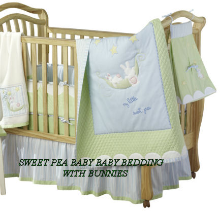 sweet pea baby bedding set crib nursery yellow and green bunny 2 peas in the  pod two