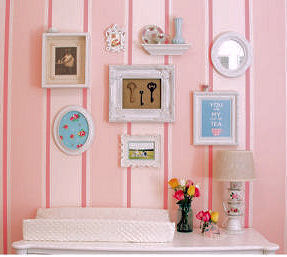 DIY teacup nursery lamp in a pink baby girl nursery theme room
