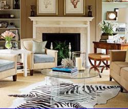wild tiger print area rug