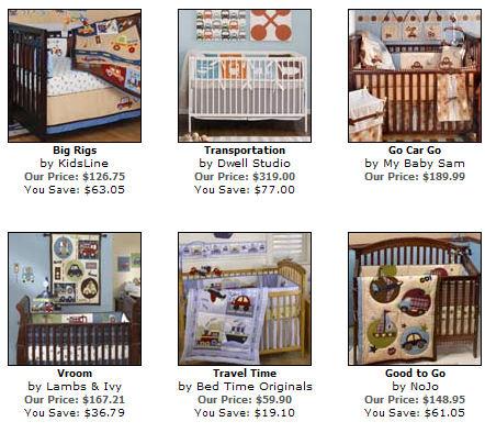 vintage airplane trucks cars planes transporation baby nursery crib bedding