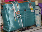 new coach diaper bag teal green blue baby turquoise