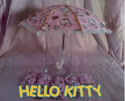 hello kitty cat pink umbrella baby shower party decorations
