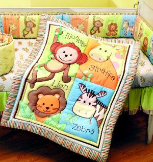 unisex baby jungle animals theme baby crib nursery bedding set
