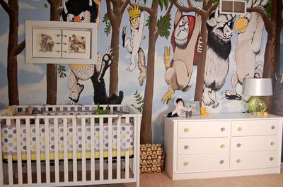 Where the Wild Things Are Baby Nursery Wall Mural