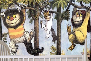 Where the Wild Things Are nursery wall mural painting DIY