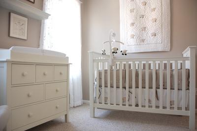 White Heirloom Nursery Decor