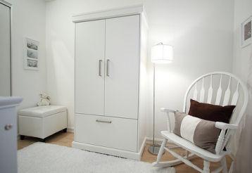 all white nursery modern contemporary baby furniture bedding
