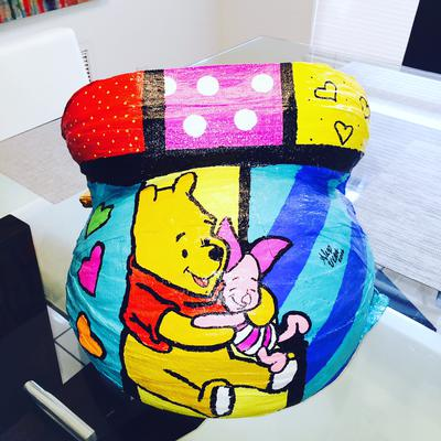 Winnie The Pooh Pregnant Belly Cast Painting Ideas