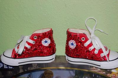 Our baby girl's first pair of ruby slippers.