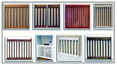 Free homemade wood baby gate woodworking plans.