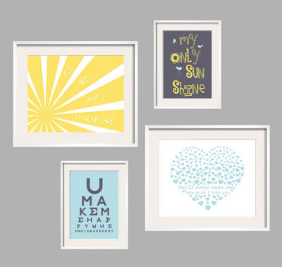 You Are My Sunshine Art prints gallery wall prints
