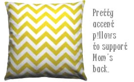 Yellow and white chevron stripes throw pillow for the nursery