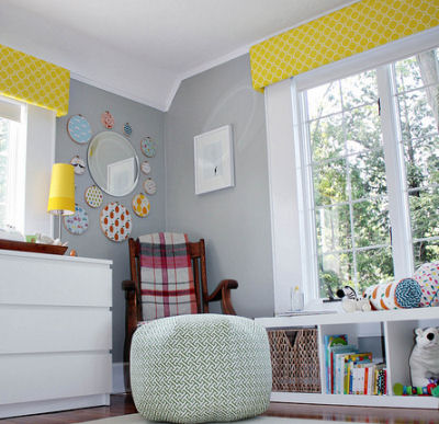 Baby Room Decorations on Colorful Yellow And Gray Baby Nursery Design
