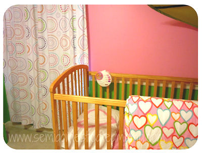 Baby Pink Hearts Ikea Crib Duvet Pillow Case And Green Blanket