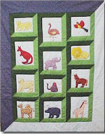 zoo animal patchwork jungle baby quilt pattern